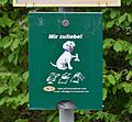 Dog feces bags dispenser, Schwechat.jpg