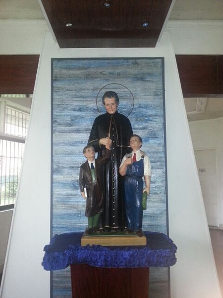 File:Don Bosco statue at the Shrine of Mary Help of Christians in Calamba, Laguna.jpg