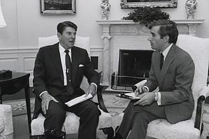 Timeline of the presidency of Ronald Reagan - Donald Lambro interviews Ronald Reagan in 1981 in Oval Office, November 16, 1981