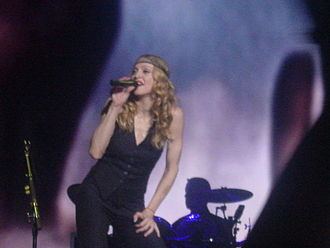 """Don't Tell Me (Madonna song) - Madonna  performing """"Don't Tell Me"""" on the Re-Invention World Tour, 2004"""