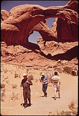 Double Arch in Windows Section of the Park, 05-1972 (3814153829).jpg