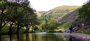 Dovedale - The Dove with a few walkers