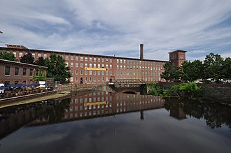 National Register of Historic Places listings in Strafford County, New Hampshire - Image: Dover NH Cocheco Mills Main Mill