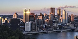 Downtown Pittsburgh seen from Mt. Washington (cropped)