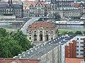 Drážďany, Neustadt, pohled na Labe z věže kostela Dreikönigskirche.jpg