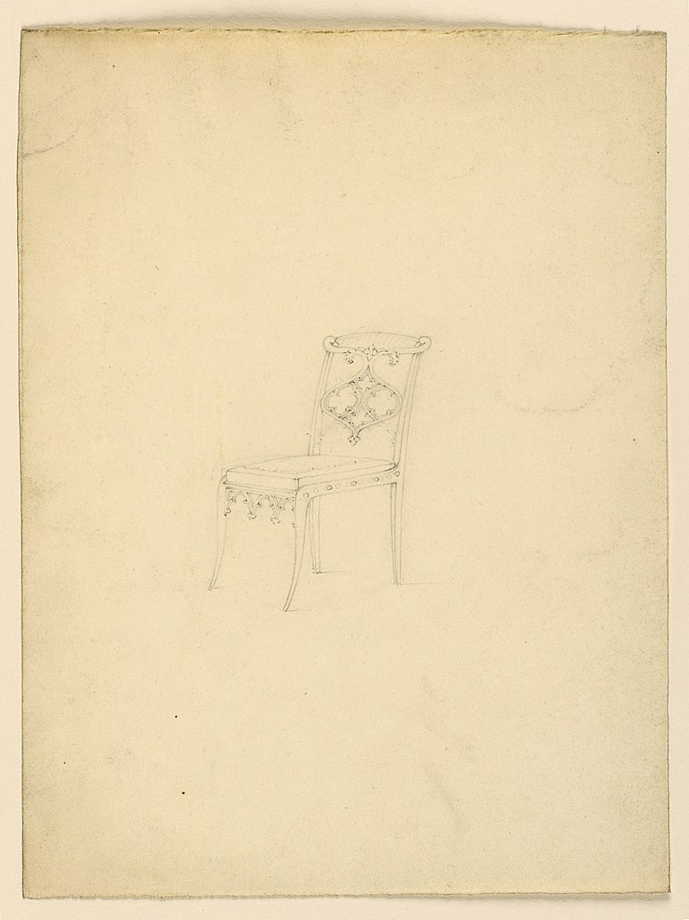 File:Drawing, Design for a chair, 1830 (CH 18609039) jpg