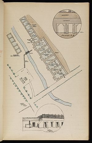 23rd Division (United Kingdom) - Drawing of Essex Farm Advanced Dressing Stations  by Lance Corporals S.T. Smith and A.R. Watt, RAMC, of the 23rd Division Field Ambulance