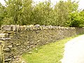 Drystone wall at west side of Jamestone (Heap Clough) Quarry - geograph.org.uk - 461896.jpg