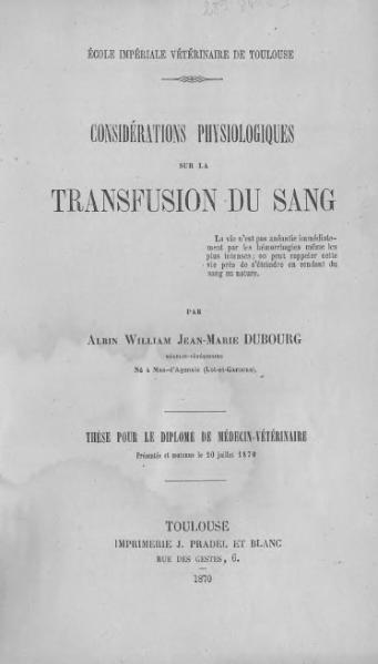 File:Dubourg - Considérations physiologiques sur la transfusion du sang.djvu