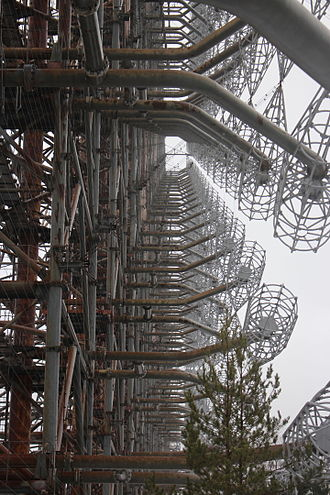 Duga radar - Steel structure of Duga-1 from the bottom