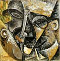 Dynamism of a Man's Head by Umberto Boccioni, 1913.jpeg