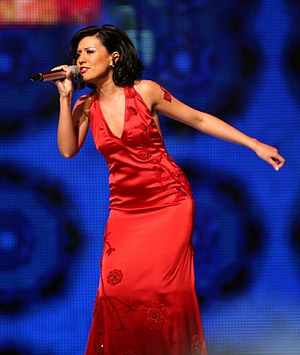 Sopho Khalvashi - Khalvashi performing at the Eurovision Song Contest 2007