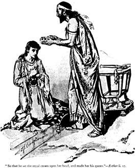 Ahasveros maakt Ester tot zijn koningin