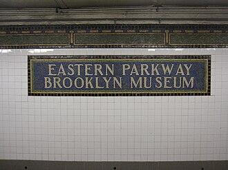 Eastern Parkway–Brooklyn Museum (IRT Eastern Parkway Line) - Image: Eastern Parkway Brooklyn Museum IRT Eastern Parkway 5