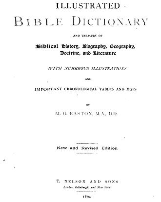 Easton's Bible Dictionary - Easton's Bible Dictionary (1894) book cover
