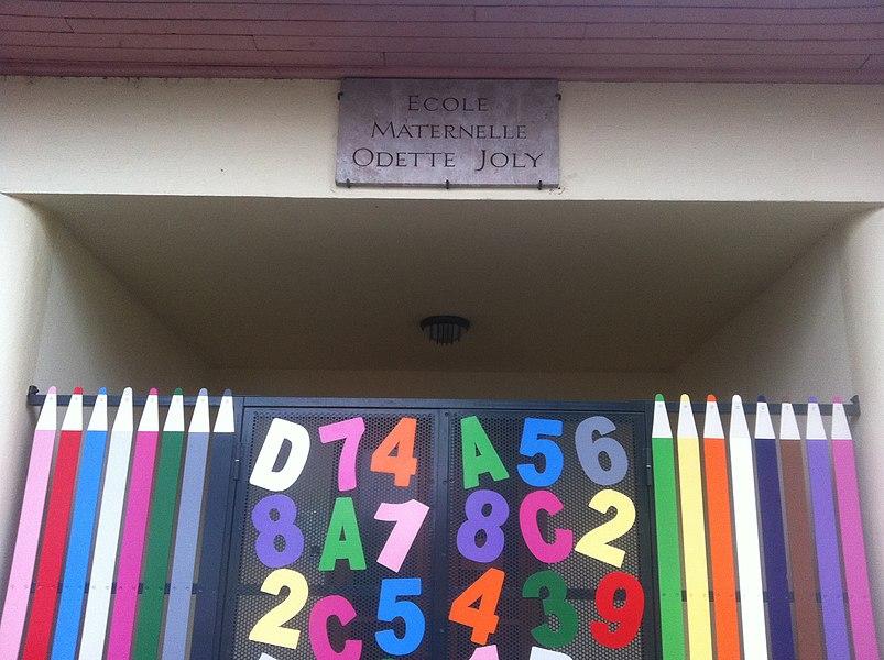 L'école Odette Joly, à Miribel, dans l'Ain, France.