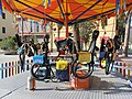 Ecological carousel, turns with the kinetic energy produced by pedaling.jpg