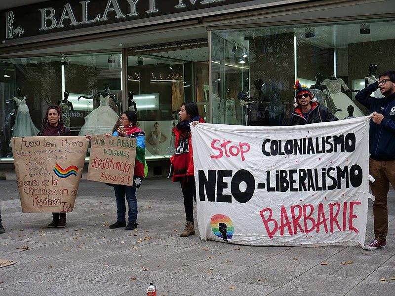 File:Ecuadorian indigenous protest Berlin 2019-10-09 01.jpg