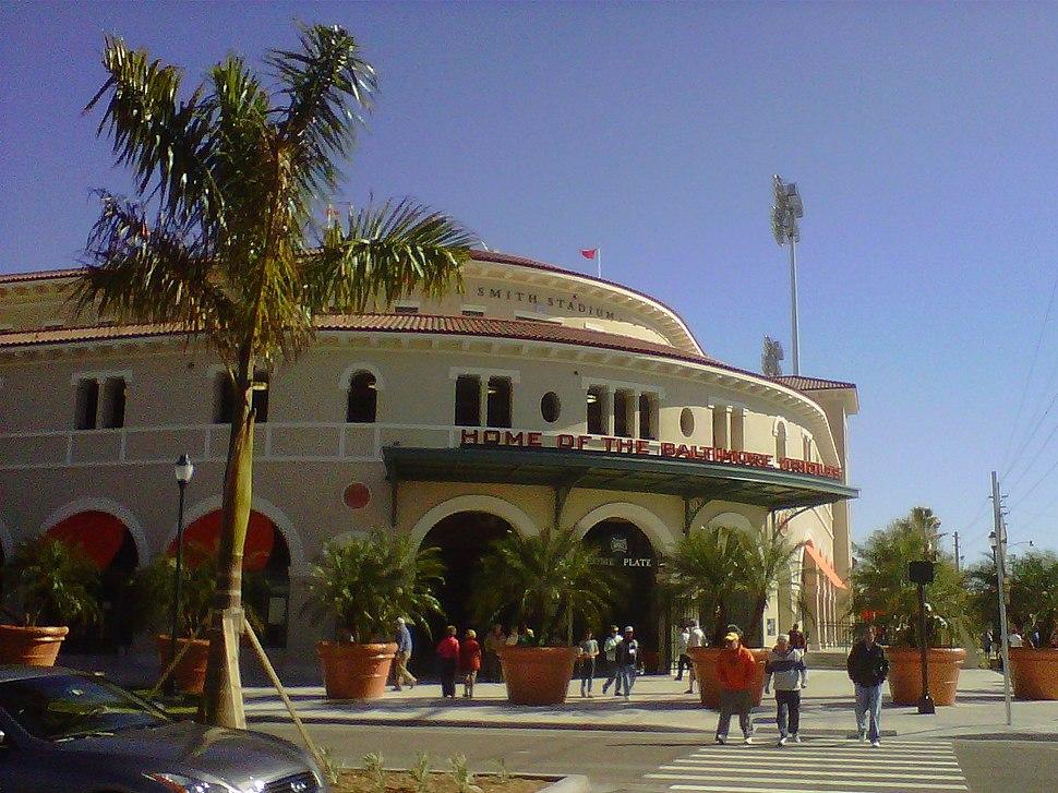 Ed Smith Stadium Sarasota Florida after renovation