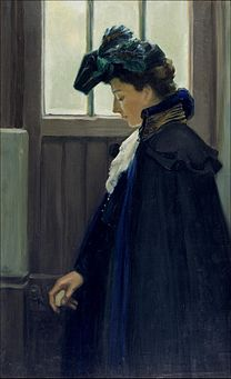 EDELFELT, Albert: At the door, 1901