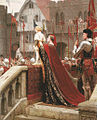 Edmund Blair Leighton - A little prince likely in time to bless a royal throne.jpg