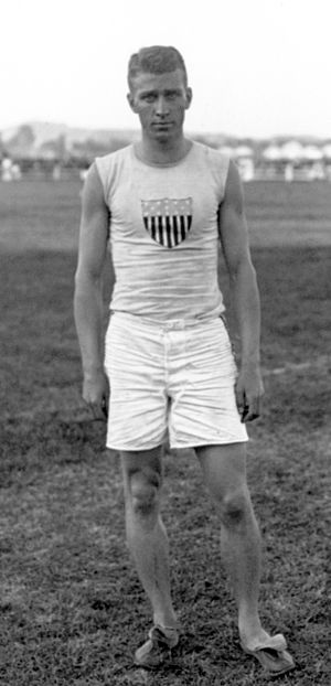 Edward Cook (athlete) - Edward Cook at an international meet in France in 1908