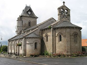 Champagnac, Cantal - The church of Our Lady, in Champagnac