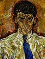 Egon Schiele - Porträt des Albert Paris von Gütersloh (detail).jpg