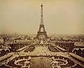 Eiffel Tower and Champ de Mars seen from Trocadéro Palace, Paris Exposition, 1889.jpg