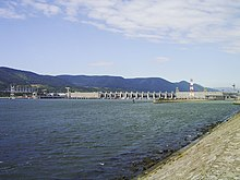 Photo du barrage des « Portes de Fer ».