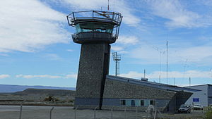Comandante Armando Tola International Airport - Image: El Calafate airport control tower