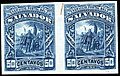 El Salvador 1892 50c Seebeck essay pair blue.jpg