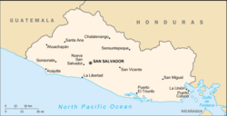 List of cities in El Salvador - Simple English Wikipedia, the free Cities Map El Salvador on