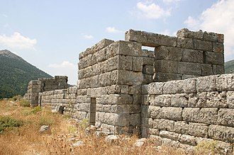 Eleutherae - Wall of the ancient fortress of Eleutherae, seen from inside of the castle