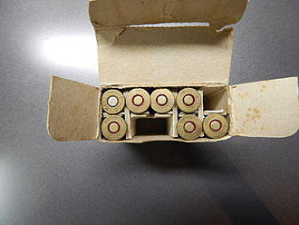 "Kynoch - Eley-Kynoch Consumer packaging (inside of packaging) for .30/30 center fire rounds. Head stamp is ""KYNOCH 30-30"""