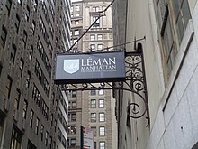 Léman Manhattan Preparatory School sign