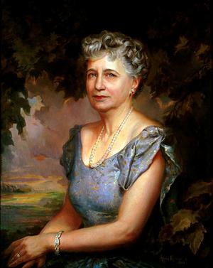 Greta Kempton - White House portrait of Bess Truman, painted by Greta Kempton.