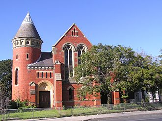 Congregational church - Elsternwick Congregational Church (1894–1977); Orrong Road, Elsternwick, Victoria, Australia