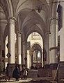 Emanuel de Witte, Intérieur d'église gothique.jpg