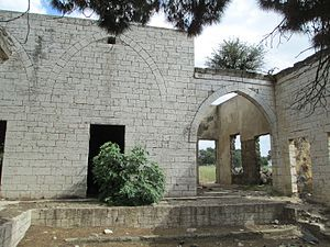 Al Fadl - The palace of Emir Mahmoud Fa'our of Al Fadl in the Golan Heights. Fadl tribesmen had their villages and grazing grounds in the Golan Heights until the area was occupied by Israel during the Six-Day War in 1967.