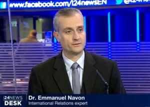 Emmanuel Navon - Emmanuel Navon speaking on i24News.