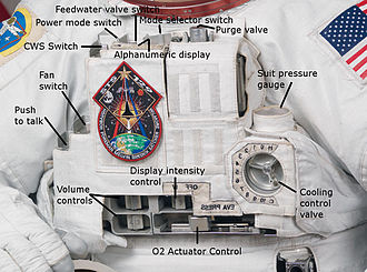 Extravehicular Mobility Unit -  The EMU Display and Control Module (DCM).