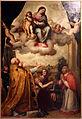 Enea salmeggia, madonna in gloria col bambino tra i ss. ambrogio e carlo borromeo, 1603, da s.m. della neve a milano 01.JPG