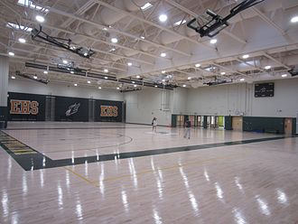 Enfield High School - Enfield High School's Gymnasium can accommodate the entire school population.
