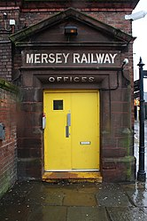 Entrance to Mersey Railway Offices at Birkenhead Central.jpg