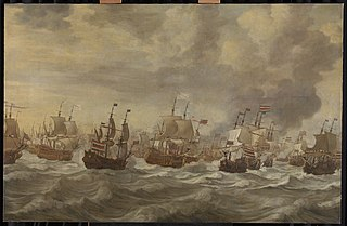 Episode from the Four Day Battle at Sea, 11-14 June 1666, in the second Anglo-Dutch War (1665-67)