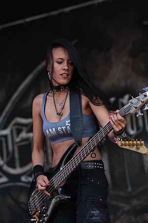 Jen Majura - Majura performing as part of Equilibrium in July 2014