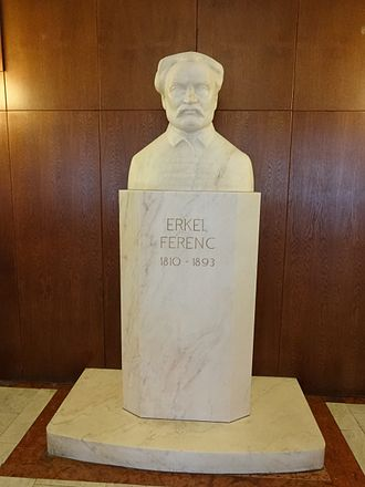 Erkel Theatre - Bust of Hungarian composer Ferenc Erkel, foyer of the Erkel Theatre, Budapest.