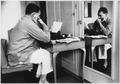 Ernest Hemingway in London at Dorchester Hotel 1944 - NARA - 192672.tif