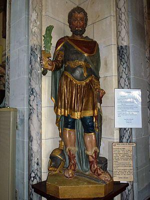 Erny-Saint-Julien (Pas-de-Calais, Fr) église Saint-Julien statue St.Julien.JPG